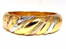 14Kt Tri-Color Bangle bracelet Wide