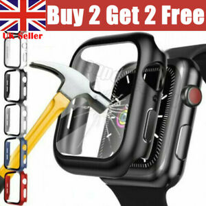 Case For Apple Watch Series 3/4/5/6/SE 360 FULL SCREEN PROTECTOR Glass Cover UK