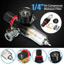 1/4'' Air Compressor Oil Water Regulator Filter Pressure Gauge Moisture Trap US