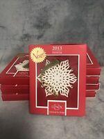 Lenox 2013 Snowflake Ornament New In Box With COA MIB