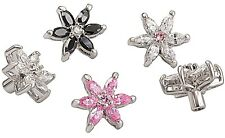 5X Tongue Belly Bar Screw Flower Spare Replacement Body Jewelry 14g 1.6mm