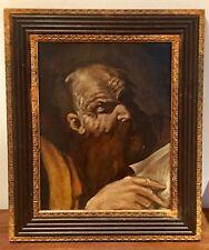 Antiguo Retrato Hombre Barbudo temprano 20thC ruso/alemán petróleo a bordo? Lenin