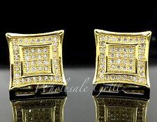 NEW! 14k Gold Finish Mens Custom 3D Kite Simulate Diamond Iced Hip Hop Earrings!