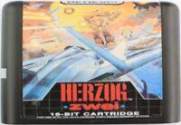 Herzog Zwei (1990) 16 Bit Game Card For Sega Genesis / Mega Drive System