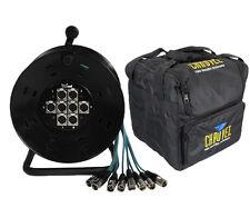 XLR Multicore 8 Way 15M Drum Stagebox 15M & Chauvet CHS-40 Carry Case Package