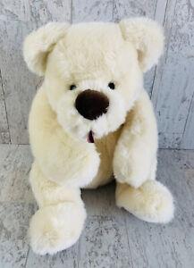 "Gund Clueless White Plush Teddy Bear Floppy Stuffed Toy Tongue Out 17"" 6427"