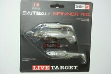 koppers live target baitball spinner rig pearl white silver 3/8oz small