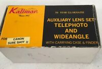 KALIMAR Telephoto Wideangle auxiliary lens set for CANON SURE SHOT II AF35M II