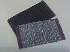Dollhouse Mini 1:12 /  2 small self fringed rug, green/multi  cream/ aqua/lav