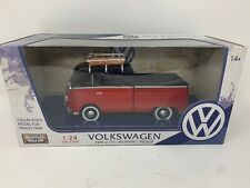 VOLKSWAGEN MOTOR MAX 1/24 TYPE 2 T1 DELIVERY PICKUP DIE CAST - NEW