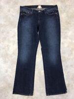 Lucky Brand Women's Blue Dark Wash Short Inseam Zoe Boot Jeans Sz 12/31