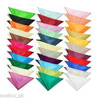 Mens Stylish Satin Solid Colour Square Pocket Handkerchief Hanky, Many Colours!