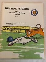 1982 Spring Training Program | Grapefruit League | Detroit Tigers | unscored