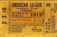 1919 WORLD SERIES TICKET *2X3 FRIDGE MAGNET* WHITE SOX BLACK GAMBLE CINCINNATI