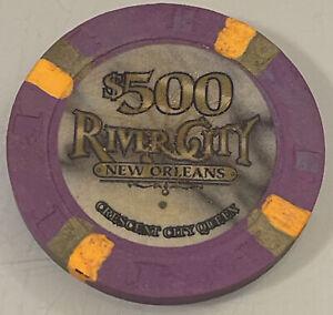 RIVER CITY $500 Casino Chip NEW ORLEANS LOUISIANA 3.99 Shipping