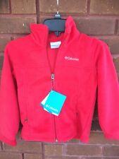 Children's Columbia XXS Fleece Jacket, Red, NWT