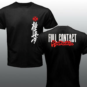 New Mas Oyama Full Contact Karate Kyokushin Kai Kan Japa Kanji Symbol T-shirt