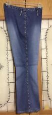 Lazer Ladies Sz 16 Silver Studs /Turquoise Studs Accents Bootcut Jeans..A-26