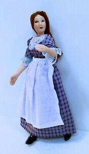 Dollhouse Miniature Porcelain  Victorian  Servant Girl Doll (Only)