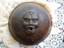 Antique 19th Century Black Memorabilia Rare Figural Iron Face String Holder Top
