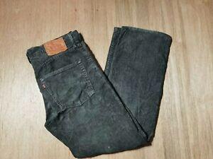 Vintage Levi's Grey Corduroy Size W30 L29 Jeans Trouser Pants Pls Rd Descrip