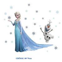 Eiskönigin 2 Elsa Olaf Wandtattoo Wandsticker Frozen Wandaufkleber Kinderzimmer