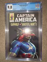 Captain America (Volume 9) #24 CGC 9.8 Andolfo horror variant free shipping