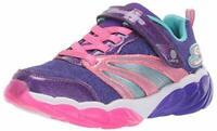 Skechers Kids' Fusion Flash Sneaker, Purple/Neon Pink, Size 1.0 1Lb2