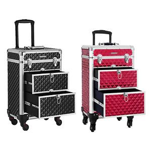 Kosmetikkoffer Trolley professioneller Schminkkoffer Make-up Koffer für Reise