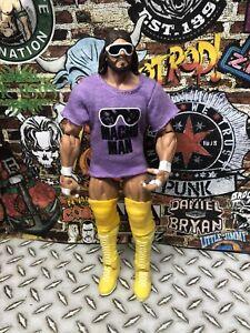 WWE Mattel Elite MACHO MAN RANDY SAVAGE Figure Great Shape Legends 5 WWF WCW