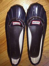 Hunter Duck Rain Ballet Flat Skimmer Shoe Navy Blue Us 9 EU 40/41