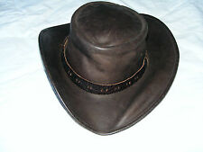 Jim  Stirling   Brown  Leather  Cowboy  Style  Adult  Hat  Country  & Equestrian