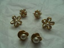 3 PAIRS OF GOLD PLATED PIERCED EARRINGS
