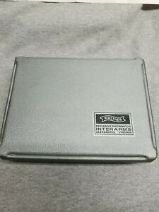 INTERARMS Walther PPK/S Pistol Box Case ONLY w Instruction Manual & Cleaning Rod