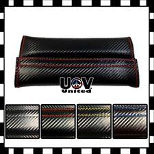 Universal Blk Carbon Fiber Look Seat Belt Cover Shoulder Pad Cushion Protector U