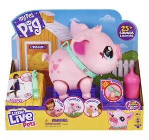 Little Live Pets MY PET PIG She Walks,Eats,Nuzzles,Sounds Real Piggly