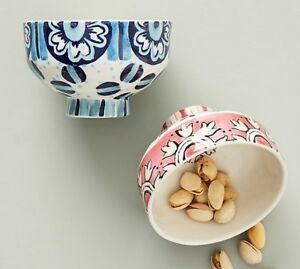 Anthropologie Nut Bowl Suno for New Choose Blue or Pink Ice Cream Snack