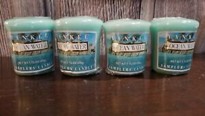 Yankee Candle Ocean Water 4 Votive Samplers Wrapped Retired Discounted Scent