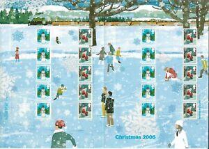 2006 GB. - FULL SMILER SHEET - CHRISTMAS ISSUE - PRISTINE MINT & UNHINGED.