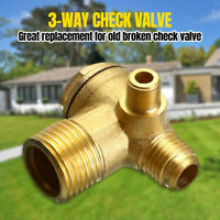 3 Way Check Valve,Air Compressor Spare Parts Brass Male Threaded Connector 1PCS