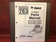 Bobcat 763 G Series Skid Steer Loader Parts Manual Withhard Binder