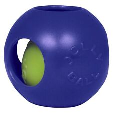 Jolly Pets Teaser Ball 10 inch Blue   Hard Plastic plus Squeaker Toy for Dogs