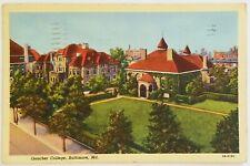 Goucher College Baltimore Maryland Postcard
