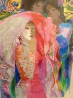 """QUAN SUN """"The Bride""""   LARGE HAND SIGNED and NUMBERED 153/385 STUNNING COLORS."""