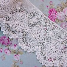 "Antique Style  Embroidery Cotton Crochet Lace Trim 6.5""(16.5cm) Wide 1Yd"