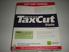 H&R Block TaxCut 2004 State version. New in box.
