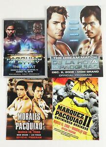 Lot of 4 Manny Pacquiao Boxing Fight Programs w/ De La Hoya