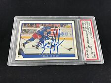 1993 UPPER DECK #348 BRIAN LEETCH RANGERS CUP YEAR SIGNED AUTOGRAPH CARD PSA/DNA