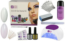 CCO UV LED FRENCH MANICURE Nail Gel Polish Varnish Starter Kit Choice of Lamp