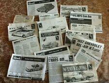 HUGE LOT MODEL CAR instruction books manuals  MOPAR FORD CHEVY & more